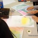 絵画コーナーではパステル画をやっています。