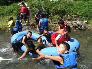 River rafting in Gifu  Prefecture.