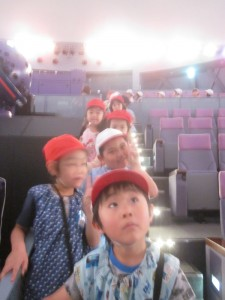 The children listened attentively to the easy to understand explanations at the planetarium.